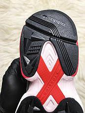 Кроссовки женские Adidas Falcon белые-серые-розовые (Top replic), фото 2
