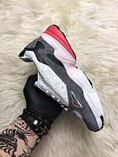 Кроссовки женские Adidas Falcon белые-серые-розовые (Top replic), фото 3