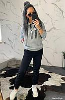 Женский утепленный костюм на флисе с худи 4405792, фото 1