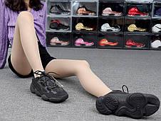 Кроссовки женские Adidas Yeezy Boost 500 Utility черные (Top replic), фото 3