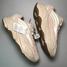 Кроссовки женские Adidas Yeezy Boost 700 Reflective (Рефлективные) бежевые (Top replic), фото 3