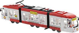 Игрушка Городской Трамвай 46 см красный (звук, свет) Big Motors 1258
