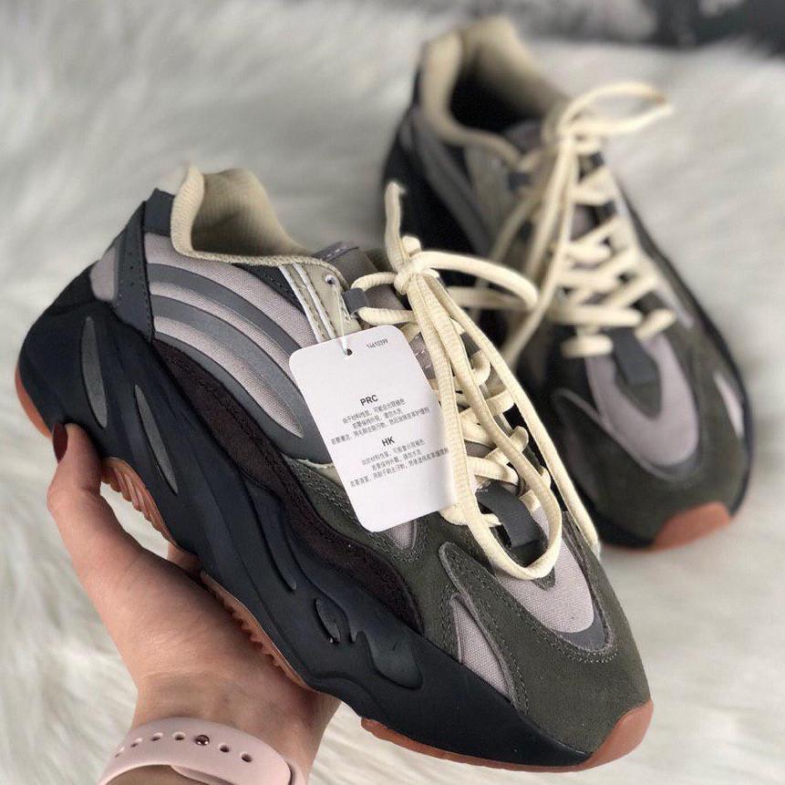 Кроссовки женские Adidas X Kanye West yeezy 700 v2 серые (Top replic)
