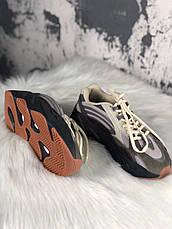 Кроссовки женские Adidas X Kanye West yeezy 700 v2 серые (Top replic), фото 3