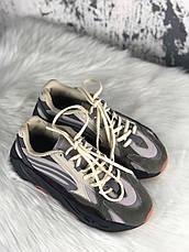 Кроссовки женские Adidas X Kanye West yeezy 700 v2 серые (Top replic), фото 2