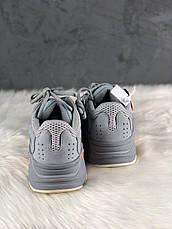 Кроссовки женские Adidas Yeezy 700 серые-синие (Top replic), фото 3
