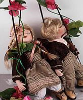 """Набор фарфоровых кукол """"Влюбленная парочка на качели"""" 485-072"""