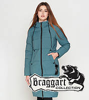 Braggart Youth   Зимняя женская куртка 25495 светлая бирюза