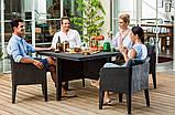 Набір садових меблів Columbia Dining Set 5 Pcs Graphite ( графіт ) з штучного ротанга ( Keter ), фото 5