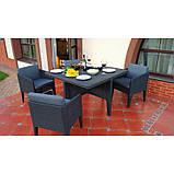 Набір садових меблів Columbia Dining Set 5 Pcs Graphite ( графіт ) з штучного ротанга ( Keter ), фото 4