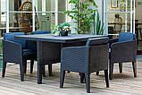 Набор садовой мебели Columbia Dining Set 5 Pcs Graphite ( графит ) из искусственного ротанга, фото 9