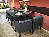 Набір садових меблів Columbia Dining Set 5 Pcs Graphite ( графіт ) з штучного ротанга ( Keter ), фото 8