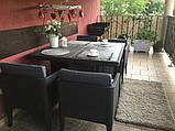 Набір садових меблів Columbia Dining Set 5 Pcs Graphite ( графіт ) з штучного ротанга ( Keter ), фото 7