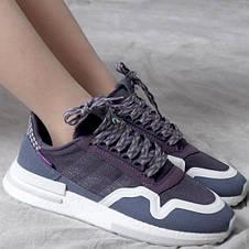 Кроссовки женские Adidas ZX 500 RM фиолетовые (Top replic), фото 2