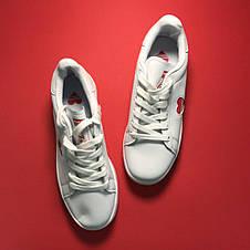 Кроссовки женские Adidas Stan Smith Heart (сердечко) белые (Top replic), фото 2