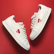 Кроссовки женские Adidas Stan Smith Heart (сердечко) белые (Top replic), фото 3