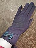 Трикотаж с сенсором женские перчатки для работы на телефоне плоншете ANJELA(только ОПТ), фото 3