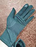 Трикотаж с сенсором женские перчатки для работы на телефоне плоншете ANJELA(только ОПТ), фото 4
