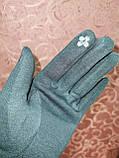 Трикотаж с сенсором женские перчатки для работы на телефоне плоншете ANJELA(только ОПТ), фото 5