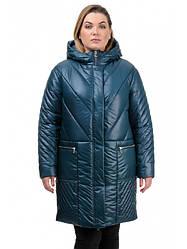Женская зимняя удлиненная куртка длиной чуть выше колена Соня Разные цвета