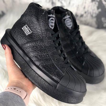 Кросівки жіночі Rick Owens × Adidas Mastodon Pro II чорні (Top replic), фото 2