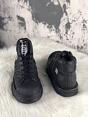 Кросівки жіночі Rick Owens × Adidas Mastodon Pro II чорні (Top replic), фото 3