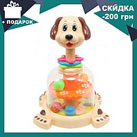Детская игрушечная юла Собачка с погремушками SL83058-59-60 | игрушка для самых маленьких, фото 1