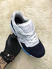 Кроссовки женские New Balance 998 белые-черные-синие (Top replic), фото 2