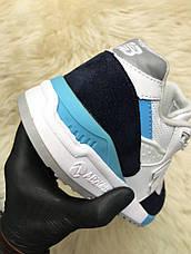 Кроссовки женские New Balance 998 белые-черные-синие (Top replic), фото 3