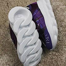 Кроссовки женские Versace Chain Reaction фиолетовые-белые (Top replic), фото 3