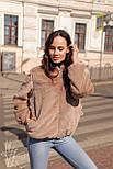 Жіноча коротка штучна шуба з капюшоном і на блискавці 602058, фото 6