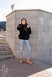Женская короткая искусственная шуба с капюшоном и на молнии 602058, фото 7