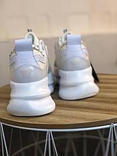 Кроссовки женские Versace Chain Reaction белые-серые (Top replic), фото 2