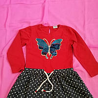 Детское трикотажное платье размер 104