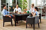 Набор садовой мебели Columbia Dining Set 5 Pcs Brown ( коричневый ) из искусственного ротанга ( Keter ), фото 10