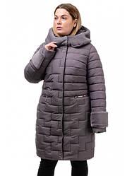 Теплая зимняя куртка длиной чуть выше колена Шэйла Разные цвета