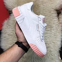 Кроссовки женские Puma Cali белые-бежевые (Top replic)