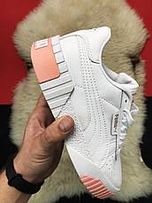 Кроссовки женские Puma Cali белые-бежевые (Top replic), фото 2