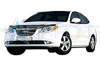 Дефлектор Капота Мухобойка Hyundai Elantra 2007-2010