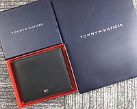 Чоловічий шкіряний гаманець Tommy Hilfiger (039) подарункова упаковка