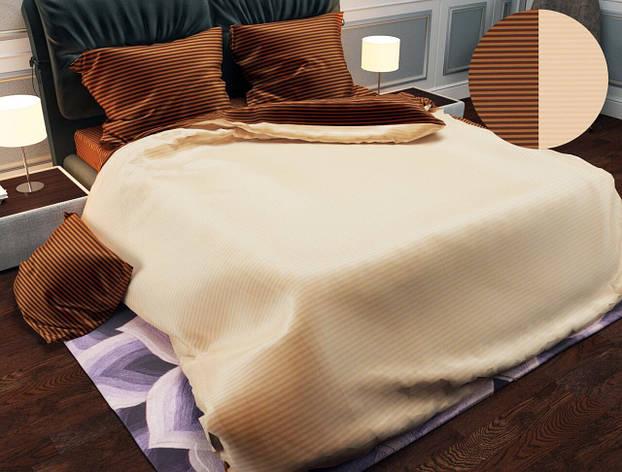 Двуспальный комплект постельного белья евро 200*220 хлопок  (12836) TM KRISPOL Украина, фото 2