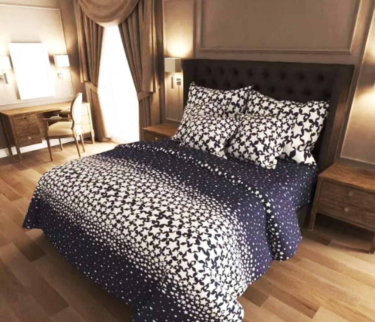 Двуспальный комплект постельного белья евро 200*220 хлопок  (12837) TM KRISPOL Украина