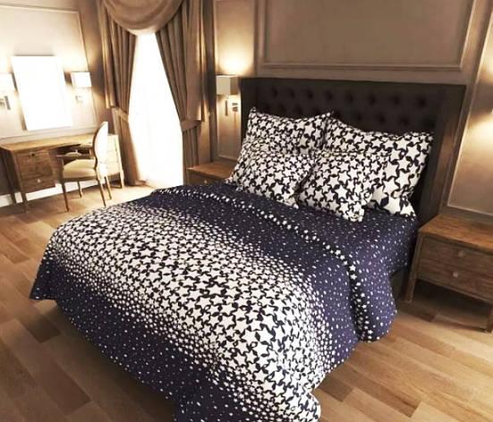 Двуспальный комплект постельного белья евро 200*220 хлопок  (12837) TM KRISPOL Украина, фото 2