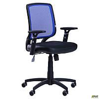 Кресло Онлайн сиденье Сетка черная/спинка Сетка синяя TM AMF