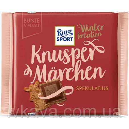 Молочный шоколад  Ritter Sport Knusper Marchen  Spekulatius Winter kreation , 100 гр, фото 2
