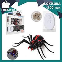 Радиоуправляемый черный паук 1388 на пульте управления | игрушка на радиоуправлении, фото 1