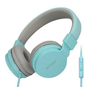 Наушники GORSUN GS-779  (с микрофоном, мониторы) blue
