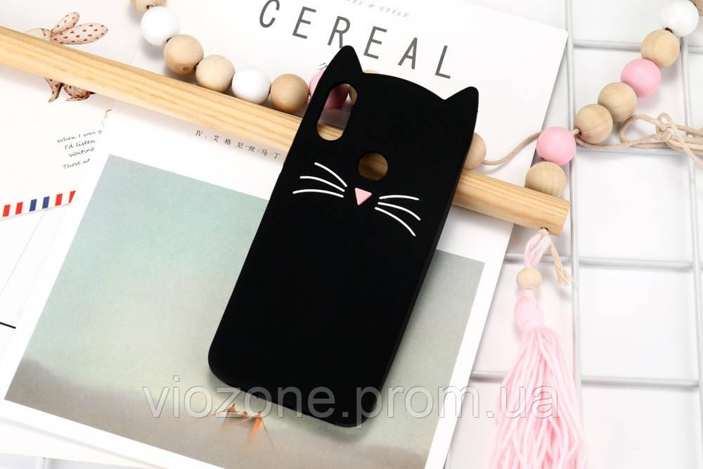 3d Чехол Бампер для Xiaomi Redmi Note 7 резиновый Кот
