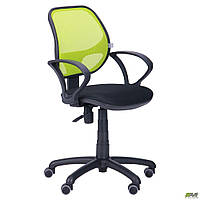 Кресло Байт/АМФ-4 сиденье Сетка черная/спинка Сетка лайм TM AMF