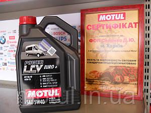 Моторное масло Motul power lcv euro+ 5W40 5л